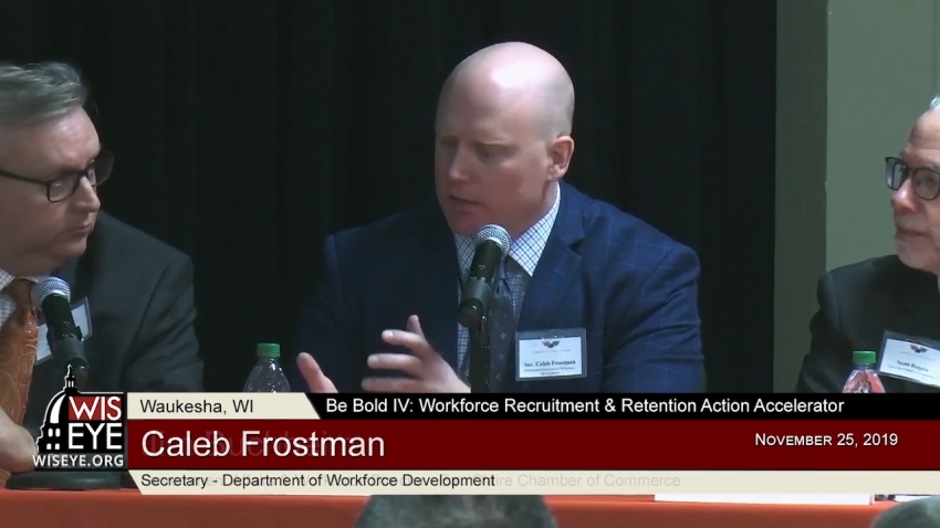 Apprenticeship and Reentry Programs - Caleb Frostman, Secretary, DWD